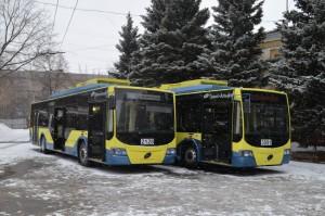 Два новых троллейбуса